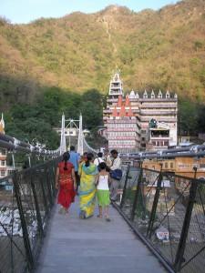 Bridge over Gonga river in Rishikesh
