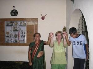 Enjoying dancing after meal