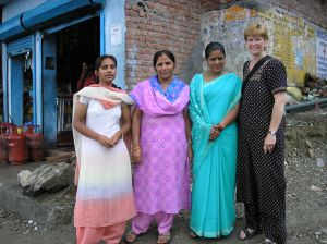 With Auxiliary Nurse Midwifes in a village